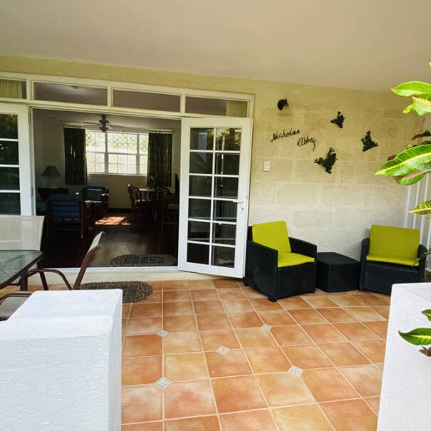 Front Patio of Barbados Apartment